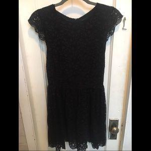 Aritzia Black Lace Cap Sleeve Dress